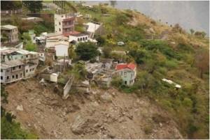 阿禮部落下部落於莫拉克風災受災情形。(圖/林務局提供)