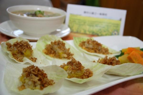 龍水社區的魚鬆料理