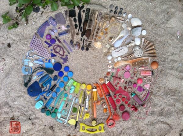 Liina Klauss的海廢創作「垃圾山水」http://liinaklauss.blogspot.tw/