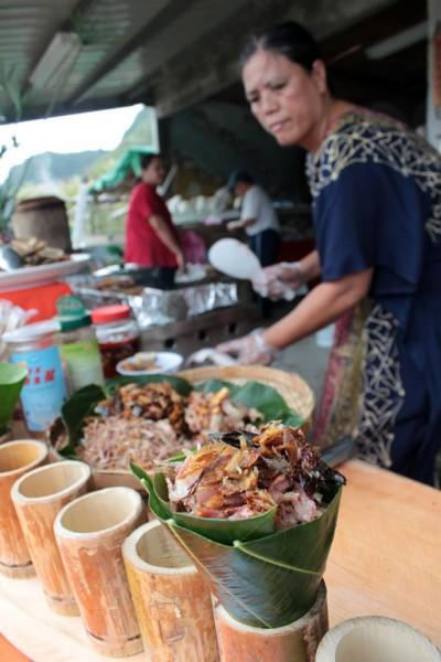 石梯坪邦查的飛魚飯,結合了太平洋的鮮味與海稻米的甜美。
