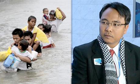 【公民寫手】【COP18】菲律賓代表發言 會場激動哽咽