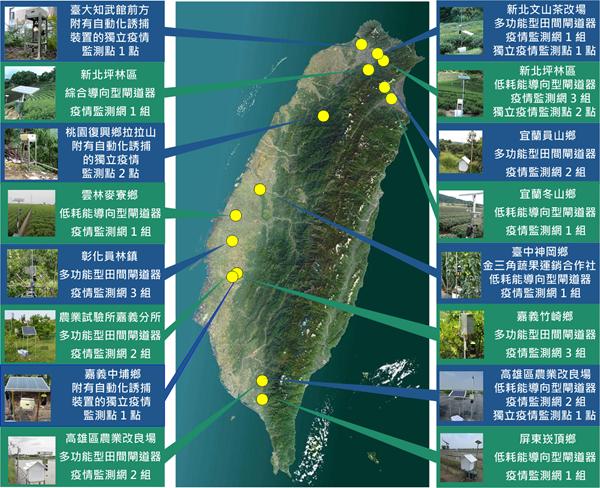 全台灣共有20多個監測系統,全部配備太陽能發電自給自足(圖:台大江昭皚教授團隊提供)