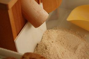 經過全粒研磨和一次過濾麩皮的全麥粉
