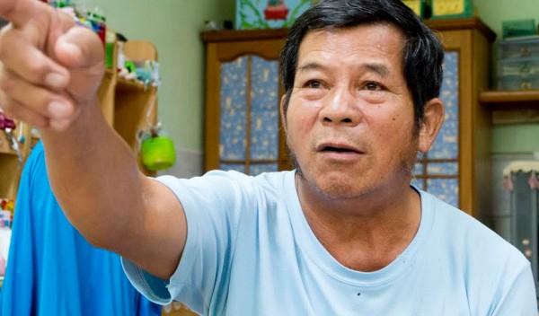 王崑生無奈的表示,無法想像國道七號穿越拷潭村後,當地的生活會變成什麼模樣。(圖/袁庭堯攝)