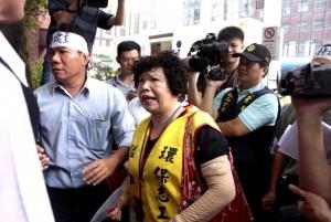 支持台知園區計畫的璞玉促進會,在會場表達自己的意見,盼政府快速通過法案,促進竹北地區經濟發展。