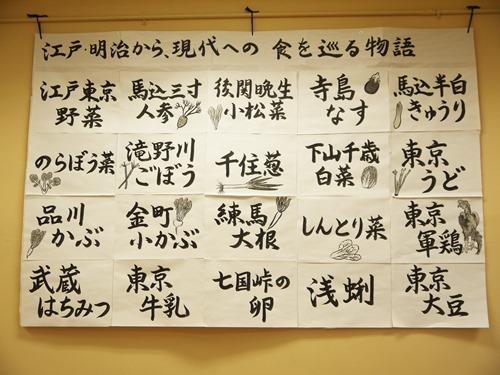 青柳小學目前使用的東京傳統蔬菜
