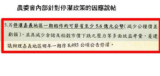 農委會指停灌稻米可減低公糧虧損,嘉義縣政府:農民情何以堪