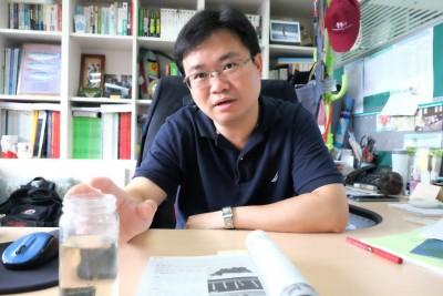 台大公衛學院蟲媒傳染病實驗室主持人蔡坤憲。(圖/林慧貞攝影)