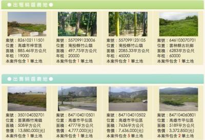 農地銀行網頁。