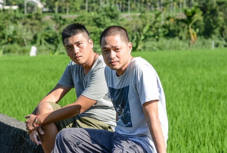 《太陽的孩子》兩位導演鄭有傑與勒嘎舒米。(攝影/李開明)