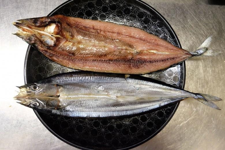 從低溫冷凍庫拿出來的秋刀魚一夜干。(攝影/郭琇真)