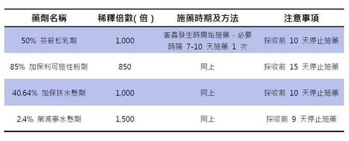荔枝椿象化學防治