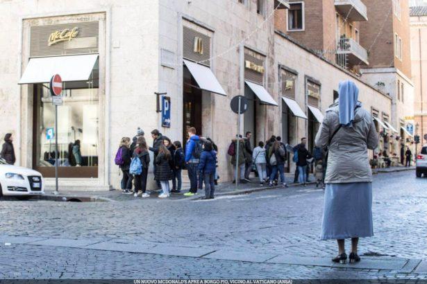 麥當勞搶攻梵蒂岡 教宗跟前賣漢堡