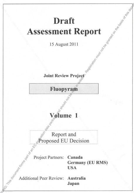 主要審查國為德國、加拿大、美國。日本、澳洲為同儕審查國 (Peer review)。氟派瑞的安全性,有國際上的共識。