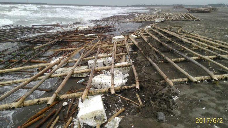 昨日鯤鯓海岸污染