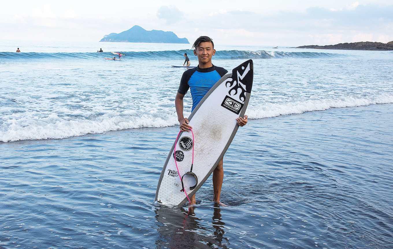林子丞(台灣區 2017 ISA世界青少年衝浪錦標賽決選賽 青少年短板男子U16組第一名)攝影羅健宏