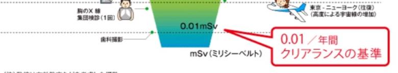 *Clearance制度(クリアランス制度)標準圖示(來源:Japan Atomic Power Company)。