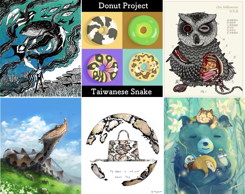 彙集多達27位插畫家,總共75件風格各異的作品,就在10/14-15挺挺動物生活節。
