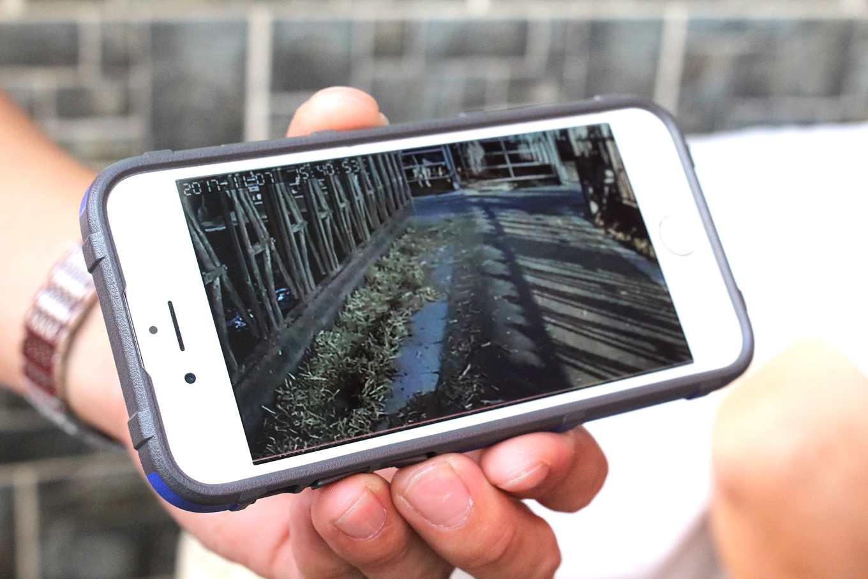 堆草機器人監控影像(攝影/劉怡馨)