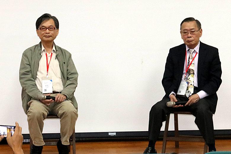 郭華仁(左),黃㯖昌(右)/ 攝影 孔德廉