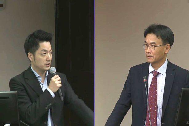 (左)國民黨立委蔣萬安(右)農委會副主委陳吉仲