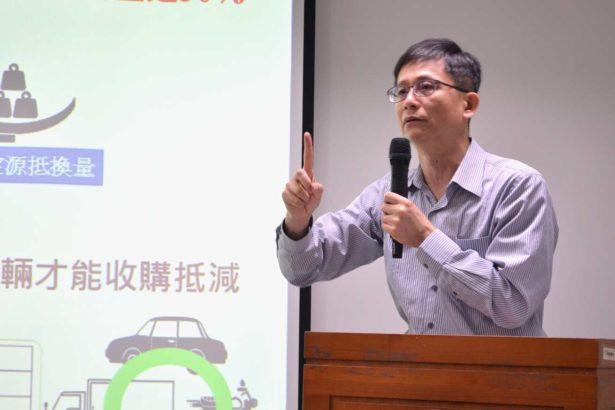 環保署副署長詹順貴解說《空汙法》相關配套(攝影/林珮君)