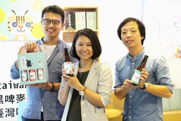 左起臺灣吧產品經理蕭仲鈞、格外農品共同創辦人林雅文、格外農品公司共同創辦人游子昂(攝影/劉怡馨)