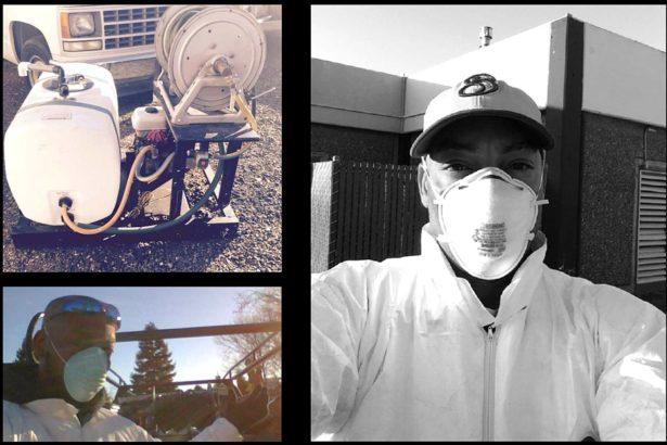 強生準備噴灑除草劑(圖片來源:強生案開庭資料)