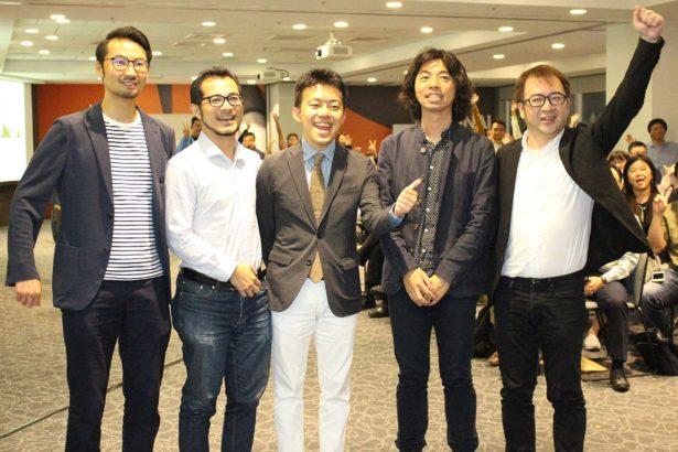 (右一)Area Innovation Alliance理事熊紀三夫(右二)林事務所代表林承毅(右三)AIA聯盟木下齊