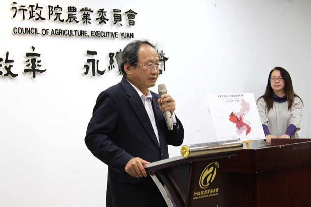 非洲豬瘟中央災害應變中心副指揮官黃金城 (攝影/段雅馨)