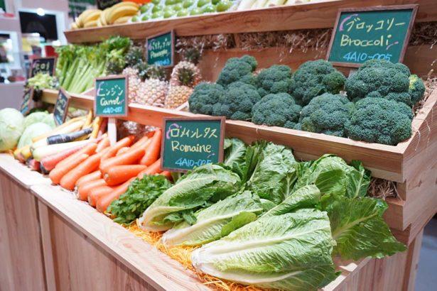 「2020東京奧運食材供應專區」展示的農產品皆通過Global G.A.P.認證。(照片提供/農委會)