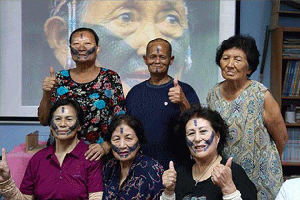 泰雅紋面活動,喚起長輩們共同的部落記憶。