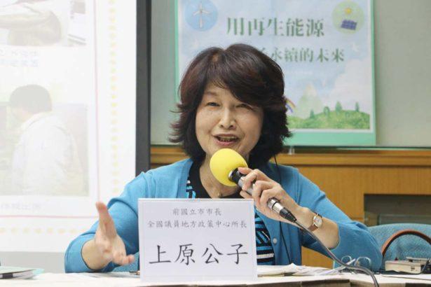 上原公子從生活合作社開始關注核災食物,並參政曾經擔任東京都國立市長,目前是全國地方議員政策中心所長(攝影/林吉洋)