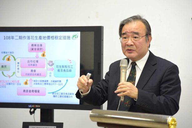 胡署長說明推動花生產地價格穩定措施(照片提供_農糧署)