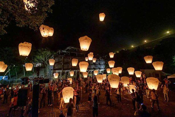 吳明賢與文化銀行合作的第一屆山城天燈節,將放天燈作為最後的活動高潮_吳明賢提供
