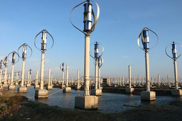 小型風機電廠因造型具未來感而被稱為外星人基地。林吉洋拍攝
