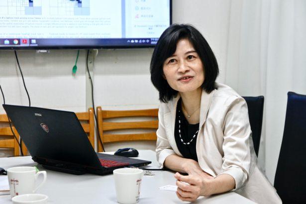 淡江大學水資源與環境工程系教授,同時也是水環境資訊研究中心主任的張麗秋(攝影_林怡均)