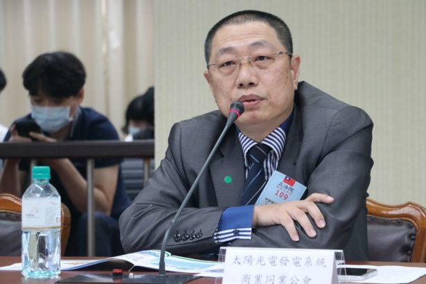 光電系統同業公會理事長蔡宗融(攝影/林吉洋)