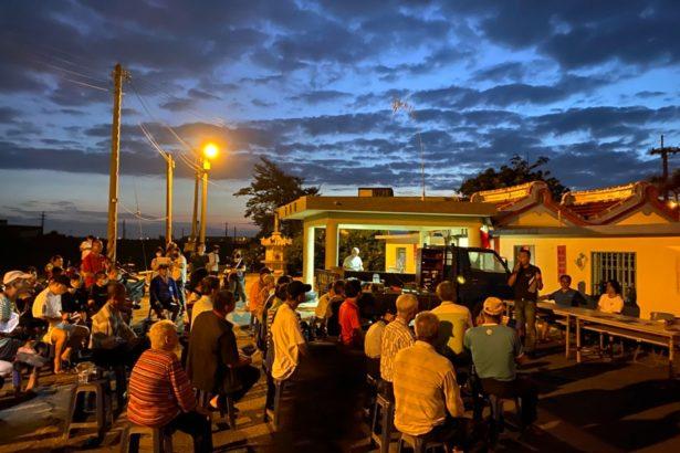 今年五月二日,溪尾村成功舉辦第一次反風吹說明會。(攝影林吉洋)