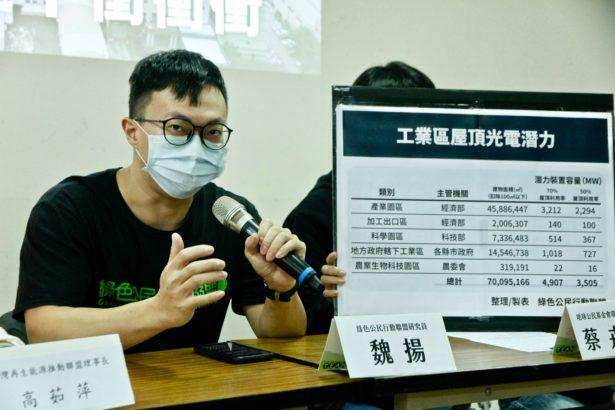 綠色公民行動聯盟研究員魏揚(攝影/林怡均)