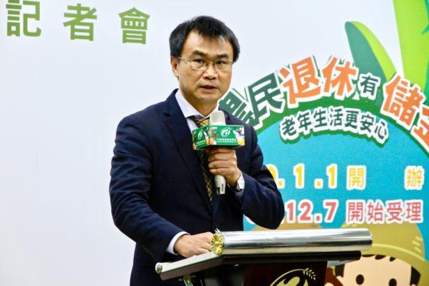 農委會主委陳吉仲說明農民退休儲金制度(攝影/林怡均)