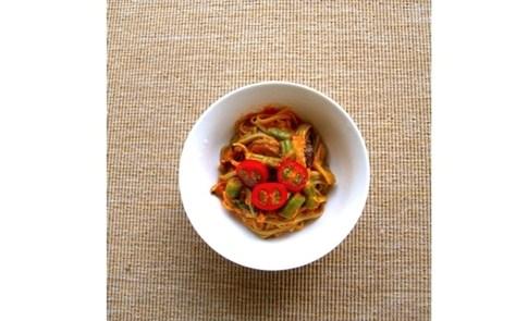 幸福的秋日蔬食:蕃茄地瓜麵