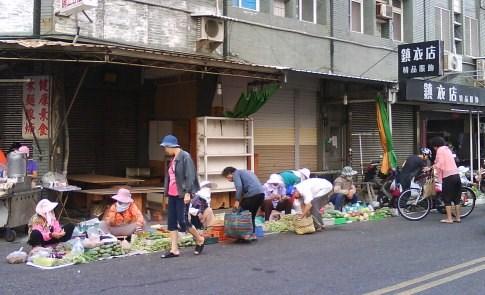 澎湖也有農業:老人賣菜
