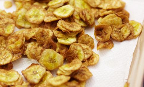 DIY圖解:油炸綠香蕉脆片