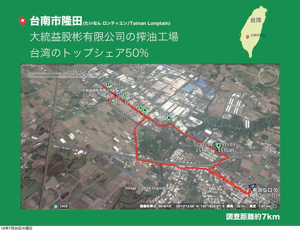 八田純人在台南市隆田的調查路線圖(圖片提供/八田純人)