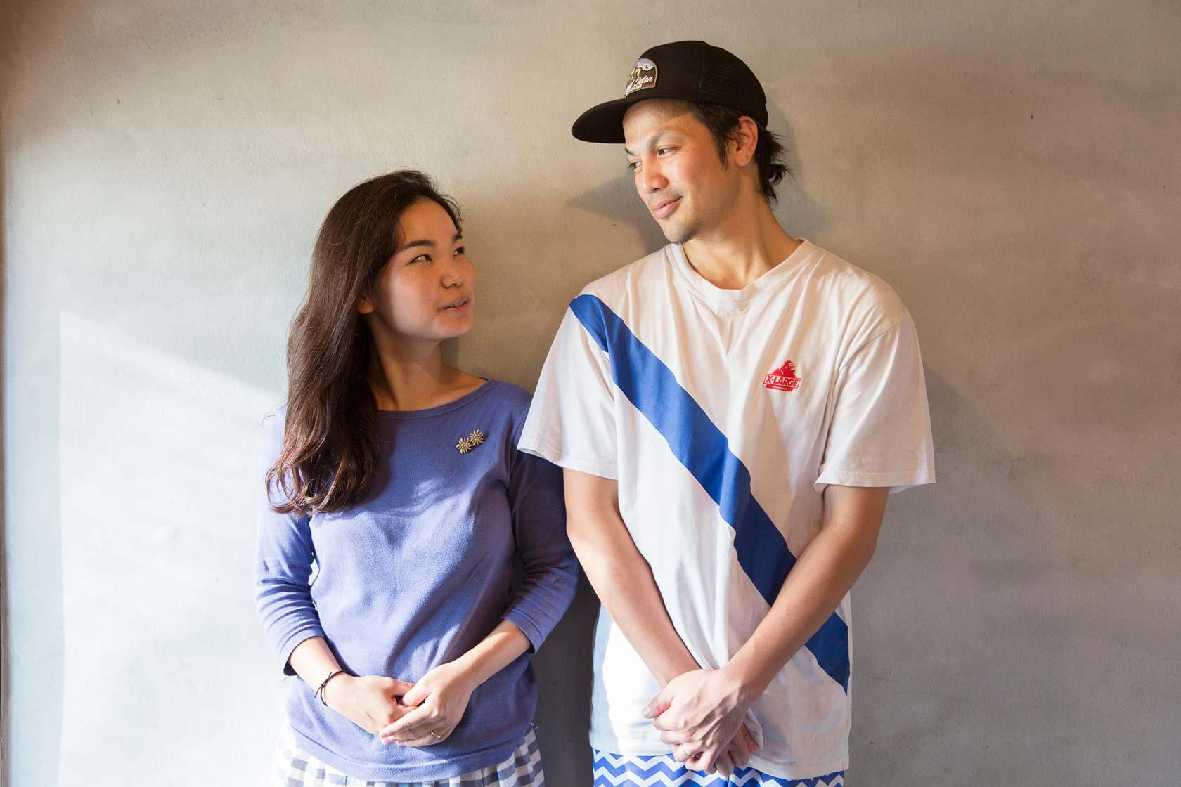 長野愛德華和妻子。攝影 / 近藤悟
