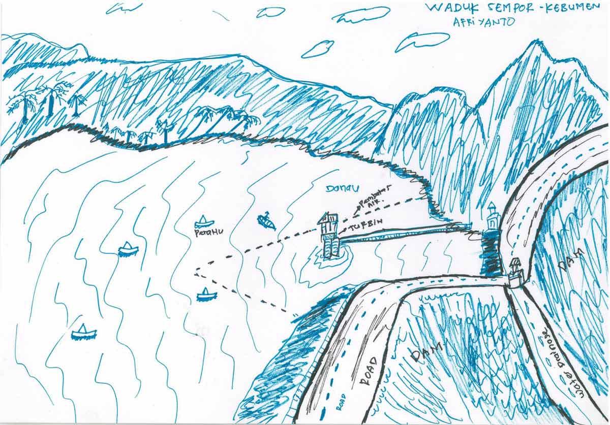 移工所繪的山中故鄉意象