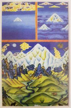 Khumbu區域有一位得道高僧Lama Geshi ,送了Tony這張唐卡明信片,口述了珠穆朗瑪峰神話,攝影/Tony Lee 李安峰