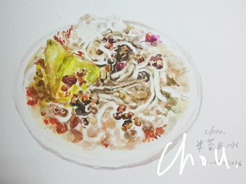 米食文化下的米苔目冰,繪圖/周憶璇