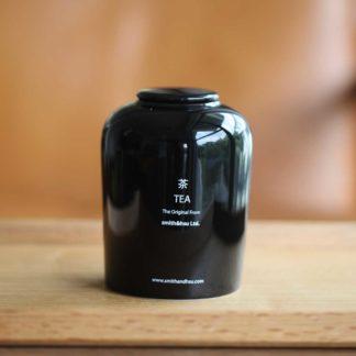 鮮彩陶瓷茶罐黑色